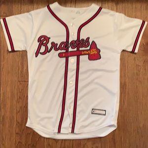 Youth Atlanta braves baseball jersey (10/12)